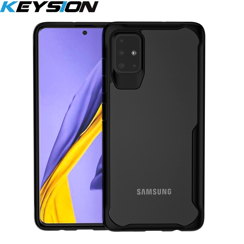 KEYSION Stoßfest Fall für Samsung Galaxy A51 A71 A70S A50 A30S A20S A10S Transparent Telefon Abdeckung für Samsung S10 Hinweis 10 Plus