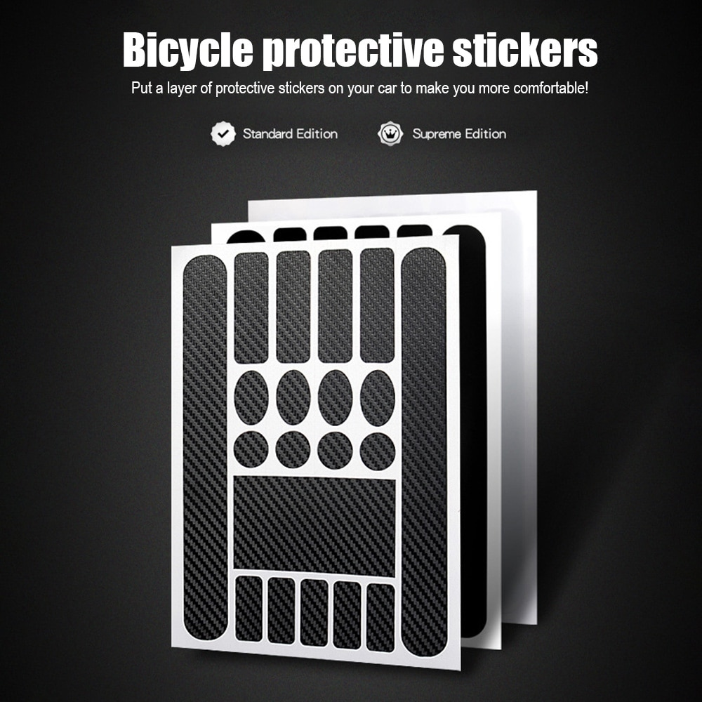 Chainstay Bicycle Frame Protectors Decal Stickers Protector Cowhide Anti-scratch Mountain Bike Protective Front Fork Chain  - buy with discount