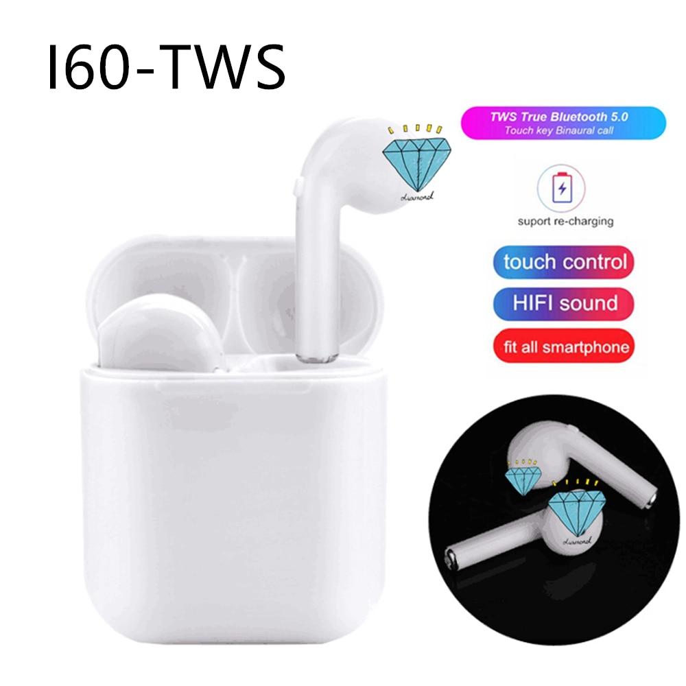 I60 TWS беспроводные наушники Bluetooth 5,0 спортивные наушники гарнитура для iphone Android PK i10 tws i12 i13 i15 i20 i30 i80 i100 TWS