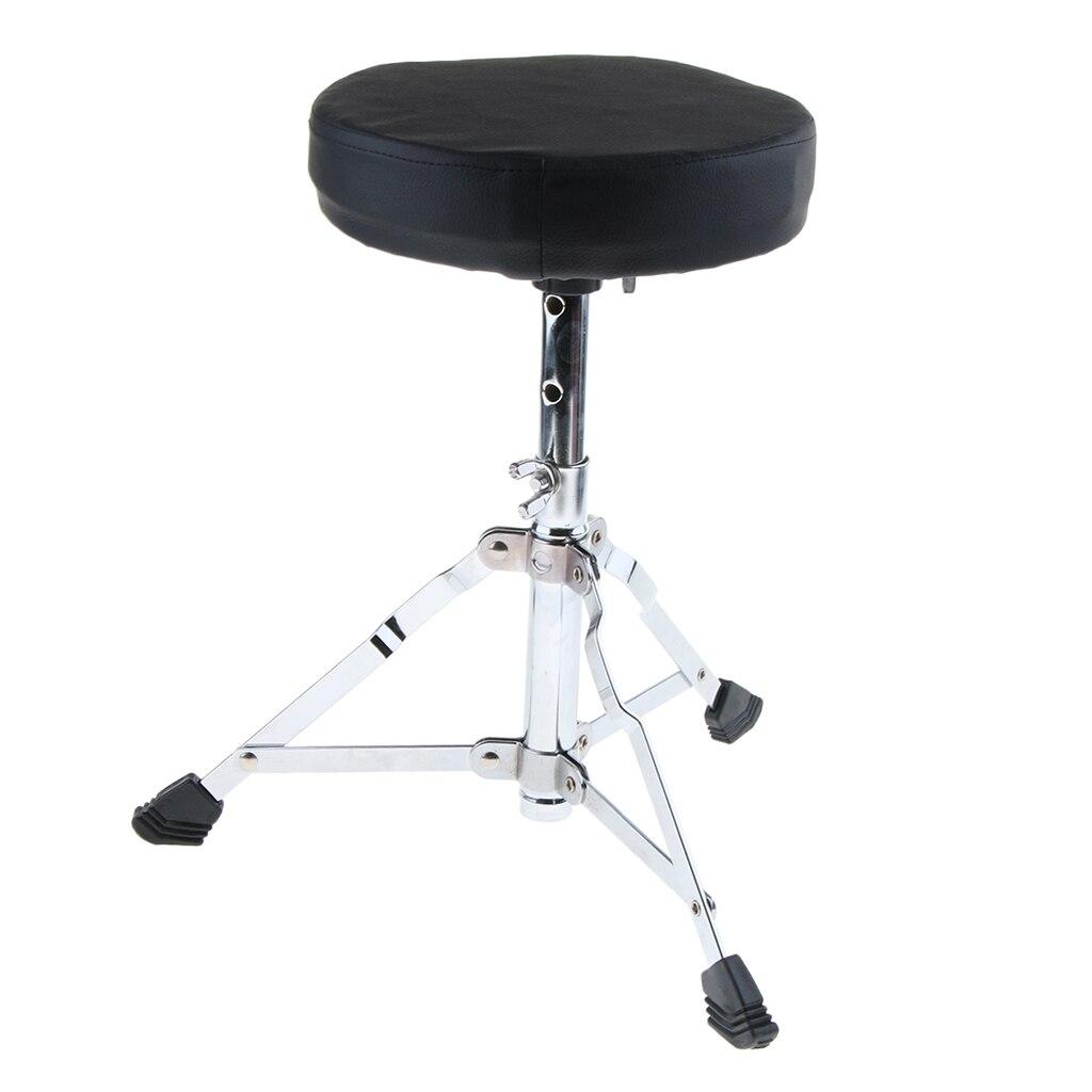 Metal Tripod niños tambor taburete soporte silla del trono pies de goma negro