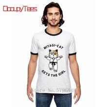 Karaté t-shirt Mr Miyagi Do karaté drôle Camiseta petit haut t-shirts lenfant karaté Miyagi-chat obtient la fille Kung Fu animaux conception
