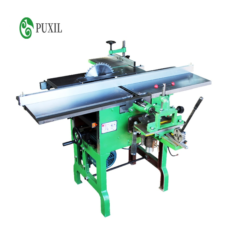 Push table type multifunctional woodworking machine tool, electric planer, planer, electric saw, square hole drill, planer, tabl
