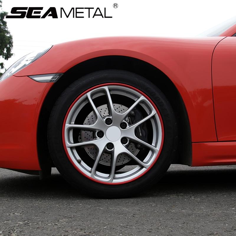 Pegatinas de rueda de coche, decoración para neumáticos de coche, pegatinas y calcomanías de tira cromada, Protector de llanta de neumático de automóviles, accesorios para anillos de neumáticos