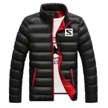 2019 New men's winter jacket men's casual fashion printing jacket high quality candy stripe coat men's jacket, large size