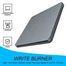 DVD-RW Laptop External DVD Burner Drives Box Enclosure Case Suction Super Slim DVD- RW DVD+ RW Sucker Type Not Support  6x