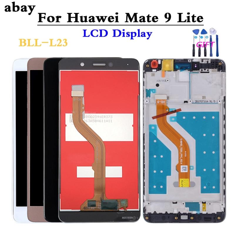 LCD para Huawei Mate 9 Lite pantalla táctil LCD con marco mate9lite BLL-L23 pantalla táctil LCD con reemplazo de Marco