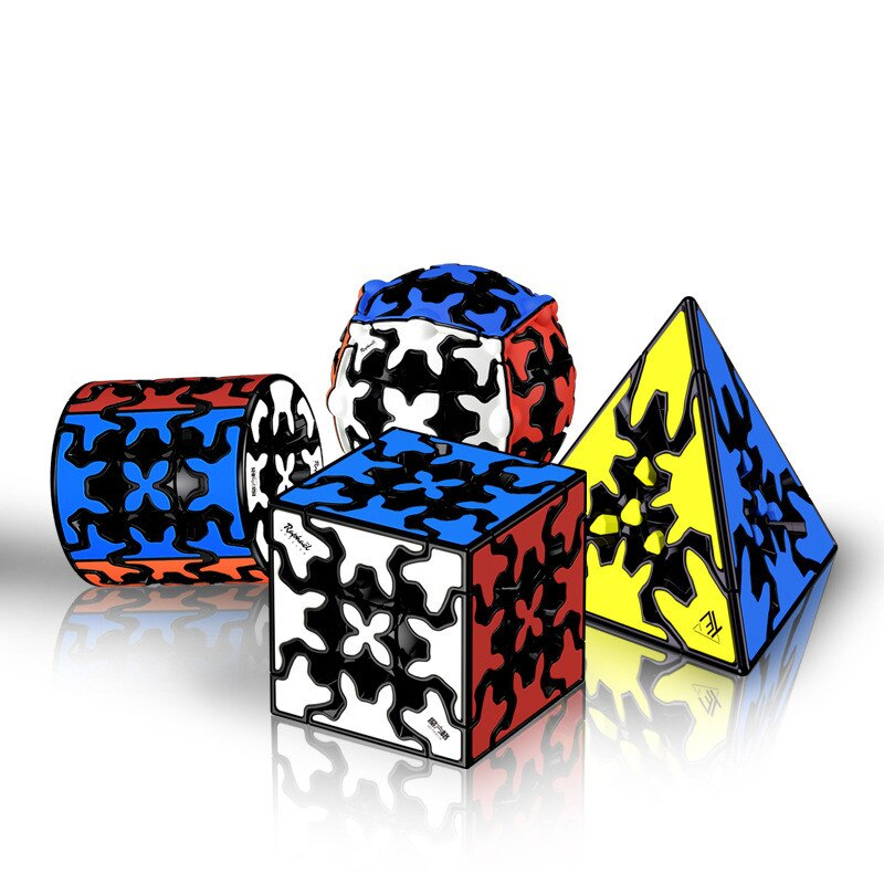 qiyi 3x3x3 engrenagem cubo magico profissao suave velocidade cubo cilindro bola cor
