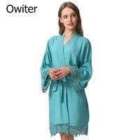 rayon cotton lace robes bride robe bridesmaid robes kimono bridal robes bride women wedding robe bathrobe bride sleepwear