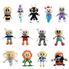 20-28cm jeu Cuphead jouets en Peluche poupée Peluche Mugman calice Cagney Carnantion tasse à thé tête aventure jouets enfants cadeau