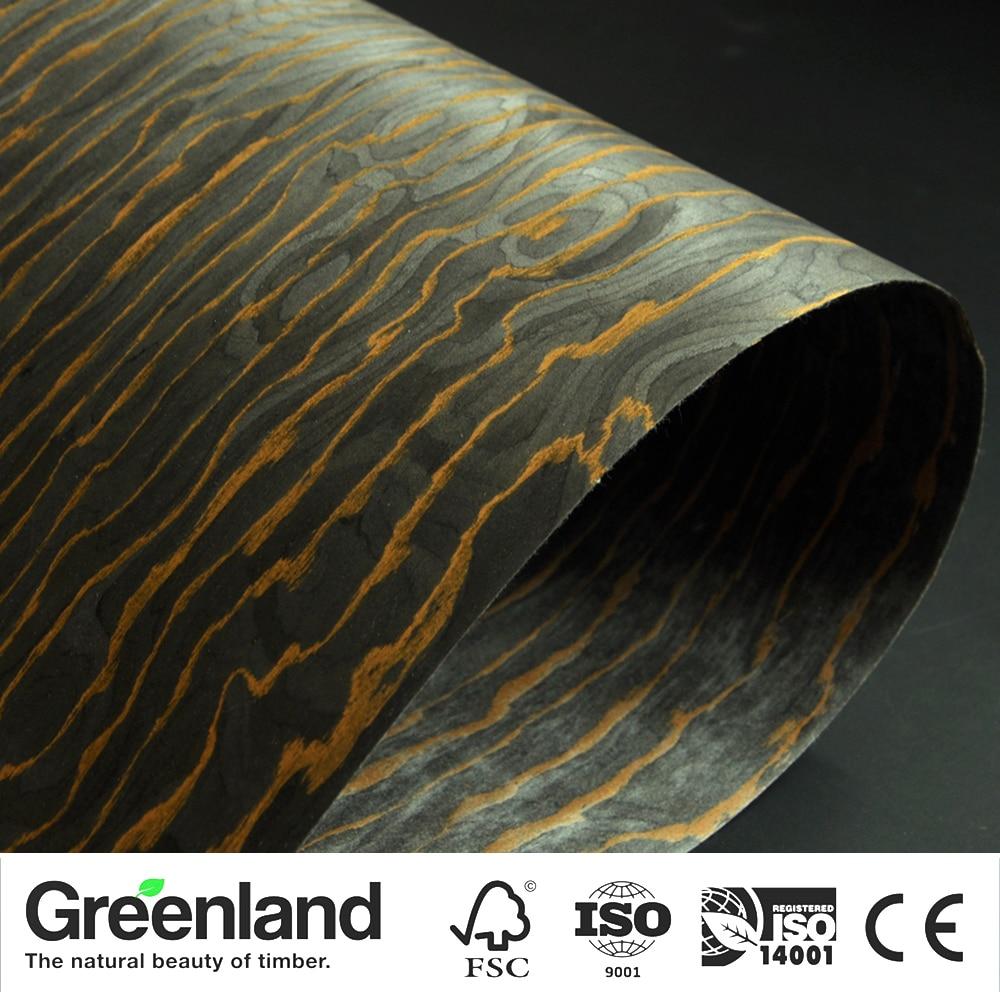 GREENLAND, nuevo diseño especial, chapas de madera de ingeniería, Tamaño 250x58CM, negro dorado