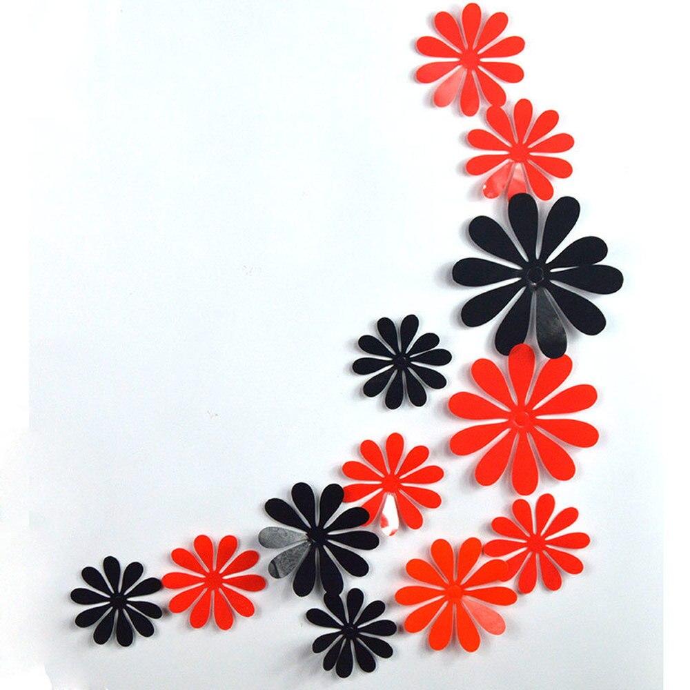 12 шт./компл. цветы декоративные наклейки на стену для кухни плитка цветок переключатель наклейка для спальни декор для гостиной настенные наклейки для дома