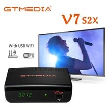 Récepteur Satellite GTmedia V7 S2X DVB-S/S2/S2X prise en charge H.265, dongle USB 3/4G pleine vitesse et dongle wifi USB