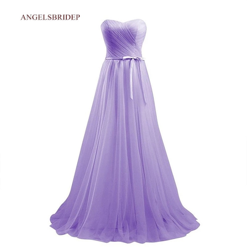 Angelsbridep Sweetheart A-Line Evening Dress Longo Robes De Soiree High Quality Tulle Floor-Length Celebrity Formal Party Gowns