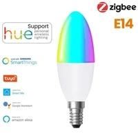 Tuya Zigbee 3 0 Intelligent E14 AMPOULES LED EN FORME DE BOUGIE Rvb   W   C Dimmable AVEC La Vie Intelligente Alexa Maison Assistant Dautomatisation