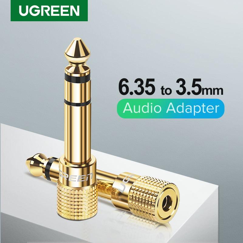 Ugreen-conector de altavoz Jack 3,5, hembra conector de Audio de 6,35mm, macho...