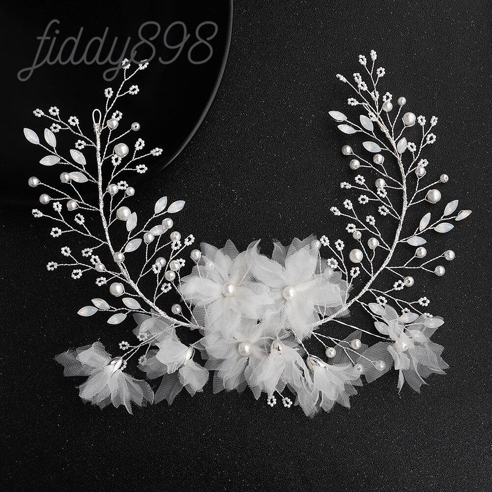 Accesorios para el cabello de boda para mujer, diademas con perlas de...