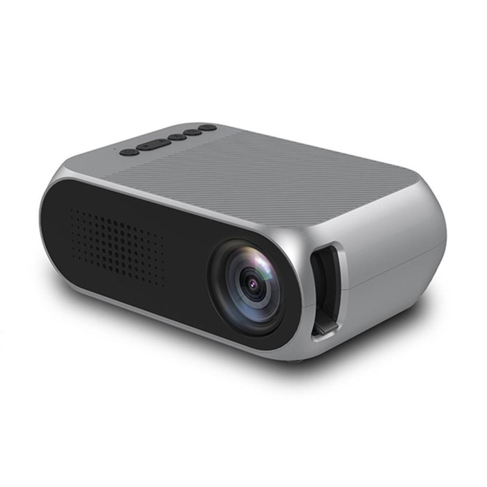 Proyector LED YG320 profesional, 600 lúmenes, 3,5mm de Audio, 320x240 píxeles, HDMI, Mini proyector USB Home, reproductor multimedia, enchufe para Reino Unido