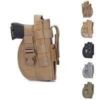tactical advanced nylon universal gun holster molle modular pistol leg holster right hand combat airsoft waist belt holster