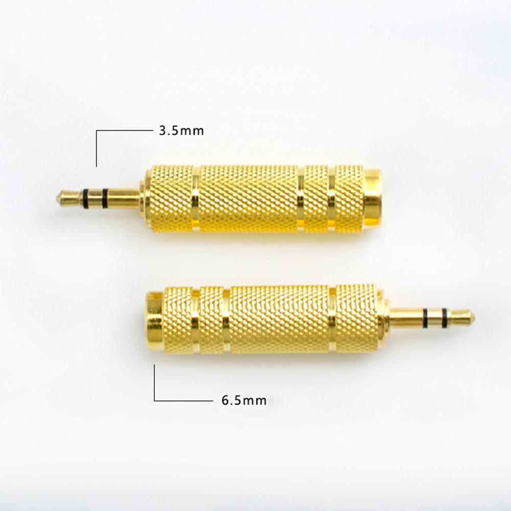 Microfone aux 6.3 3.5mm conversor 6.35mm macho plug para 3.5mm conector fêmea fone de ouvido amplificador adaptador de áudio