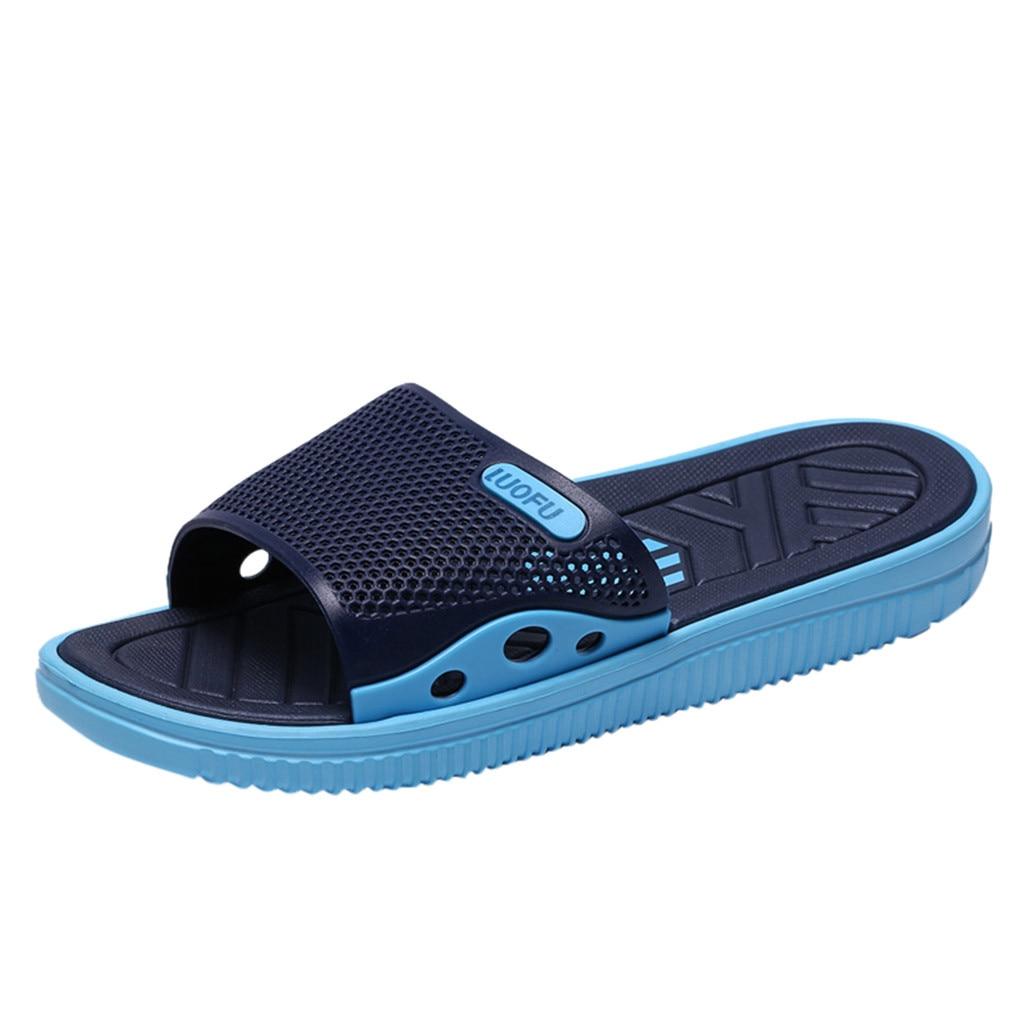 SAGACE Men's slippers Fashion Casual Shoes Men 2019 Summer Outdoor Anti-skidding Non-slip Beach Shoes Home Slippers slippers men