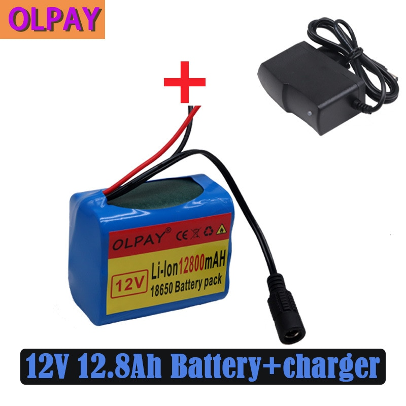 18650 Lithium Battery 3s2p 12V 12800mah Rechargeable Battery Lithium Battery Pack with BMS Charger 18650 battery box for 3 7v rechargeable lithium battery 18650 battery storage case with pin high quality