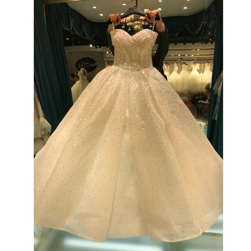 الأميرة بلورات فستان الزفاف Mariage الكرة ثوب فستان عروس 2021 مخصص الزفاف زي العرائس Vestido De Noiva