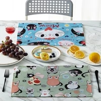 cute cartoon table fabric napkin kitchen decoration fashion placemat party home wedding decorative tableclote