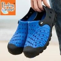 classic slip on garden clog shoes men quick drying summer beach slipper breathable outdoor sandals platform gardening shoes