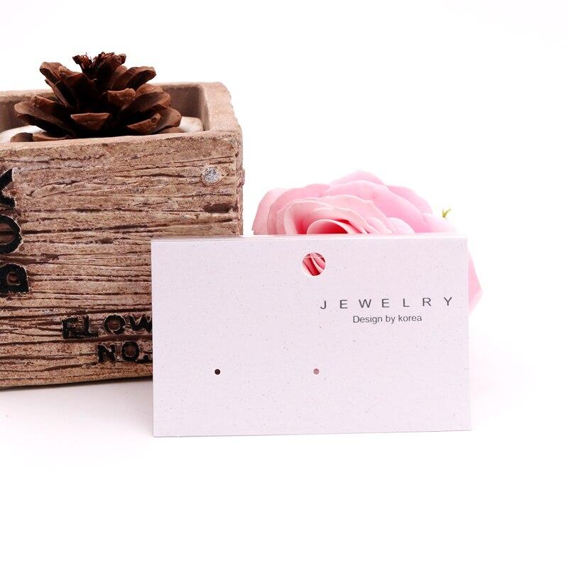 Tarjetas para exhibir pendientes DIY, accesorios de plástico para exhibir joyas, tarjetas de papel para colgar pendientes, paquete para exhibir 200 Uds.
