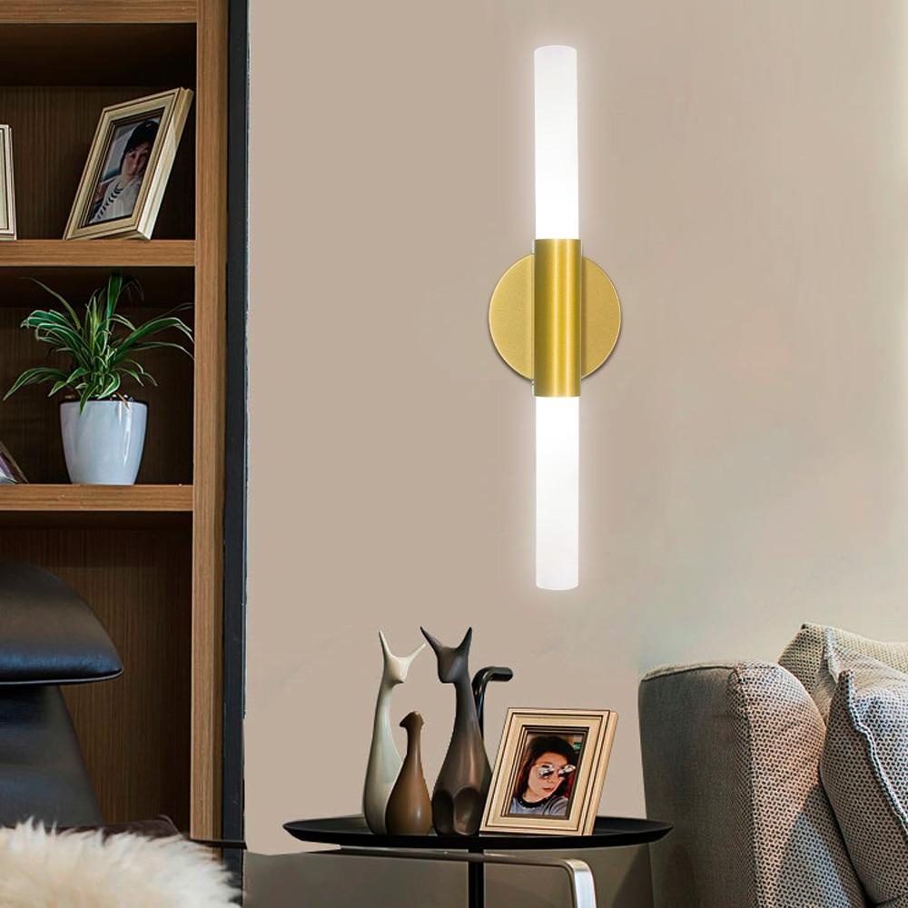 Lâmpada de parede moderna plug in luzes de parede quarto interior iluminação do corredor led fixado na parede de vidro lâmpada para cima para baixo luz branca quente g9