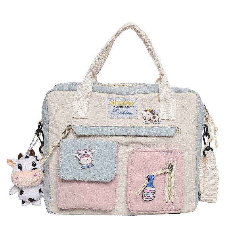 حقيبة قماشية على النمط الكوري حقيبة ظهر صغيرة صغيرة للنساء موضة حقيبة السفر حقيبة مدرسية ل Tennage حقيبة كتف فتاة