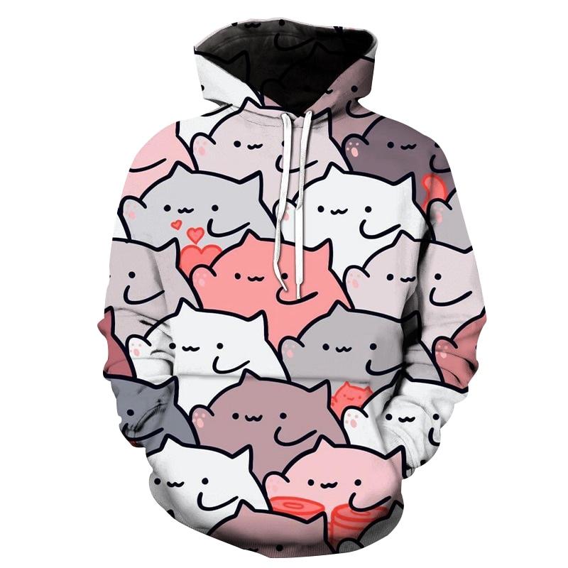 Фото - fashion wild Totoro 3D printed street wear trend hoodie sweatshirt Funny Cut cat Cartoon Hoodies anime Hoodie mens mark wild street meeting