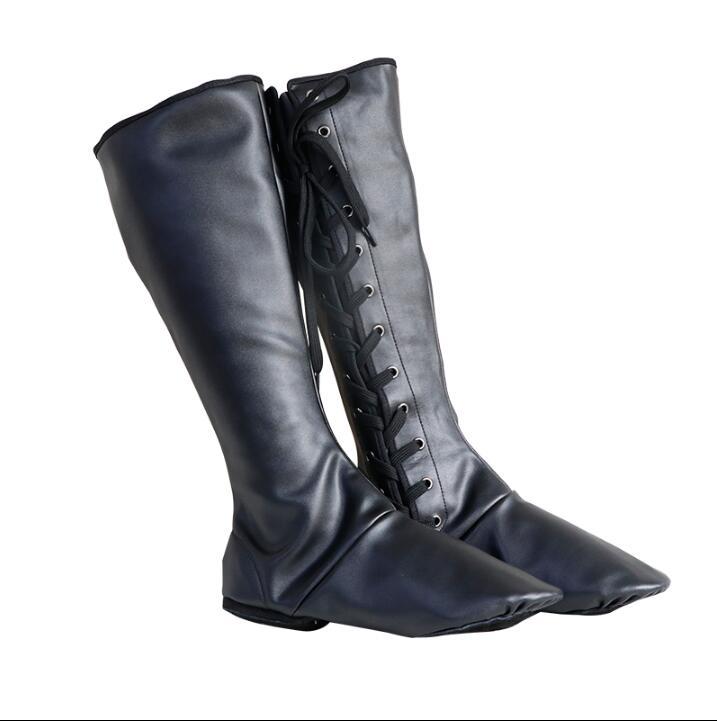 أحذية الرقص الشعبي الأداء المنغولي أحذية الرجال بو