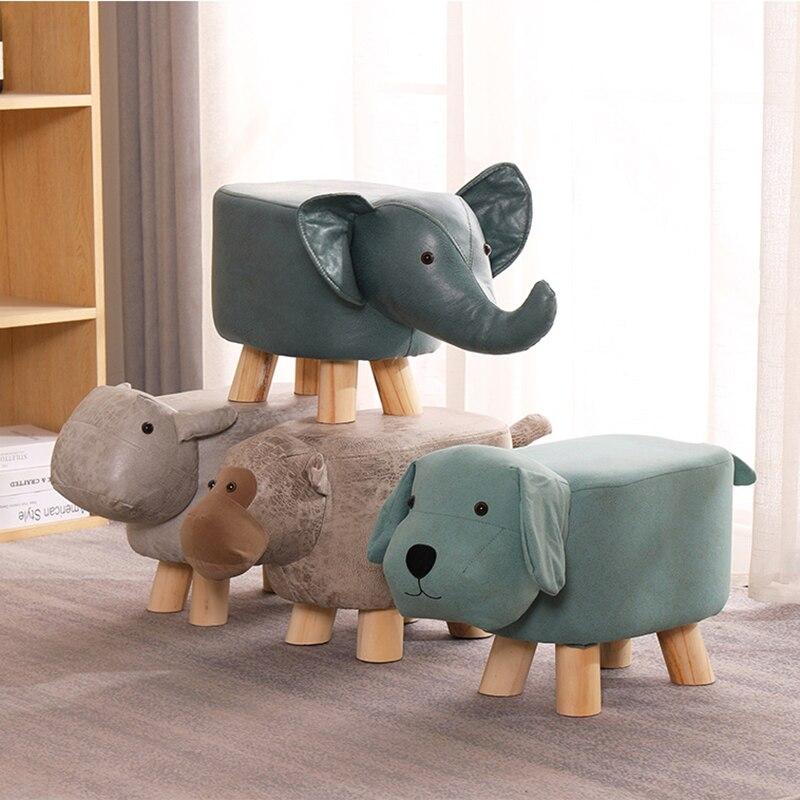Творческие животные слон мультфильм дети Настоящие Деревянные низкие табуреты семейная Сменная обувь маленький табурет интернет знаменит...