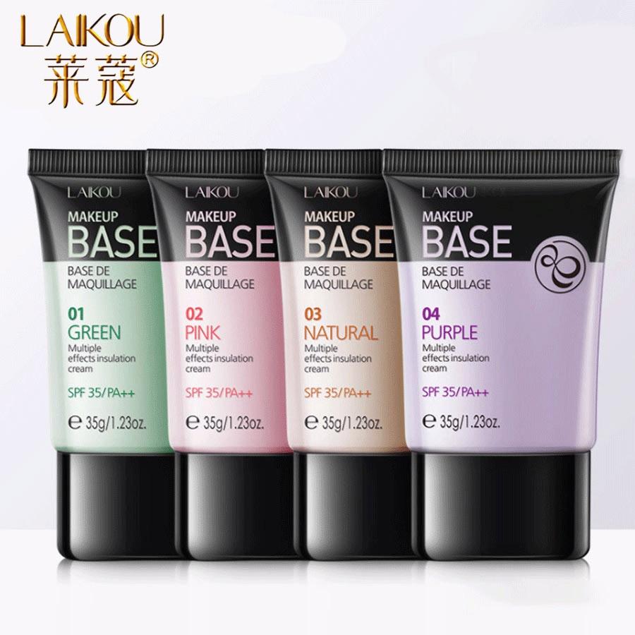 LAIKOU Four Colors Face Primer Makeup Base Liquid Matte Oil Control Concealer Foundation Hydrating  Professional Make Up