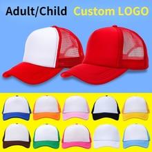 Customize Printing Photos AD 49Colors Trucker Hats Gorros Men Print Logo Summer Adjustable Mesh Cap