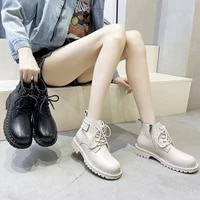 genuine leather boots women heels black platform shoes woman booties martin ankle boots female designer shoes for women 2021 new