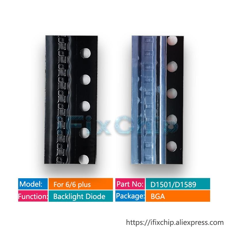 Lote Original de 20 unids/lote D1501 para iPhone 6/6 Plus D1589, Chip IC de diodo de retroiluminación