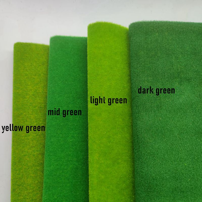 DIY Turf Lawn Model Grass Mats Artificial Lawn Turf Landscape 25x25 micro scenery for Diorama Scenery Building Layout Material 3mm static grass powder turf flocking nylon toy model scene making 60g six color monochrome diorama sand table layout