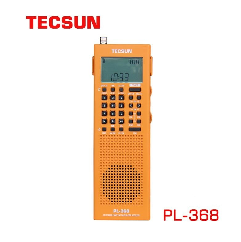 Original TECSUN PL-368 Portable DSP E FM-Stereo MW SW SSB World Band Stereo Radio PL368 Full Band  64-108MHZ