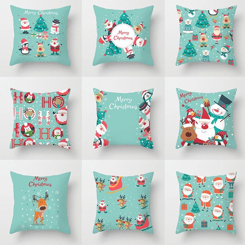 New CartooChristmas decor pillowcase Home decor Lovely Santa Claus Christmas Elk car cushion sofa cushion cover home decor items