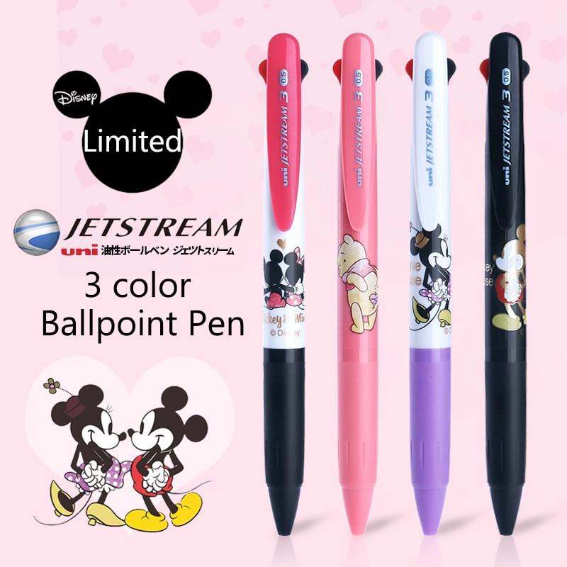 Uni Tri-Color bolígrafo Multi-propósito pluma SXE3-504D Edición limitada de dibujos animados de pluma 0,5mm