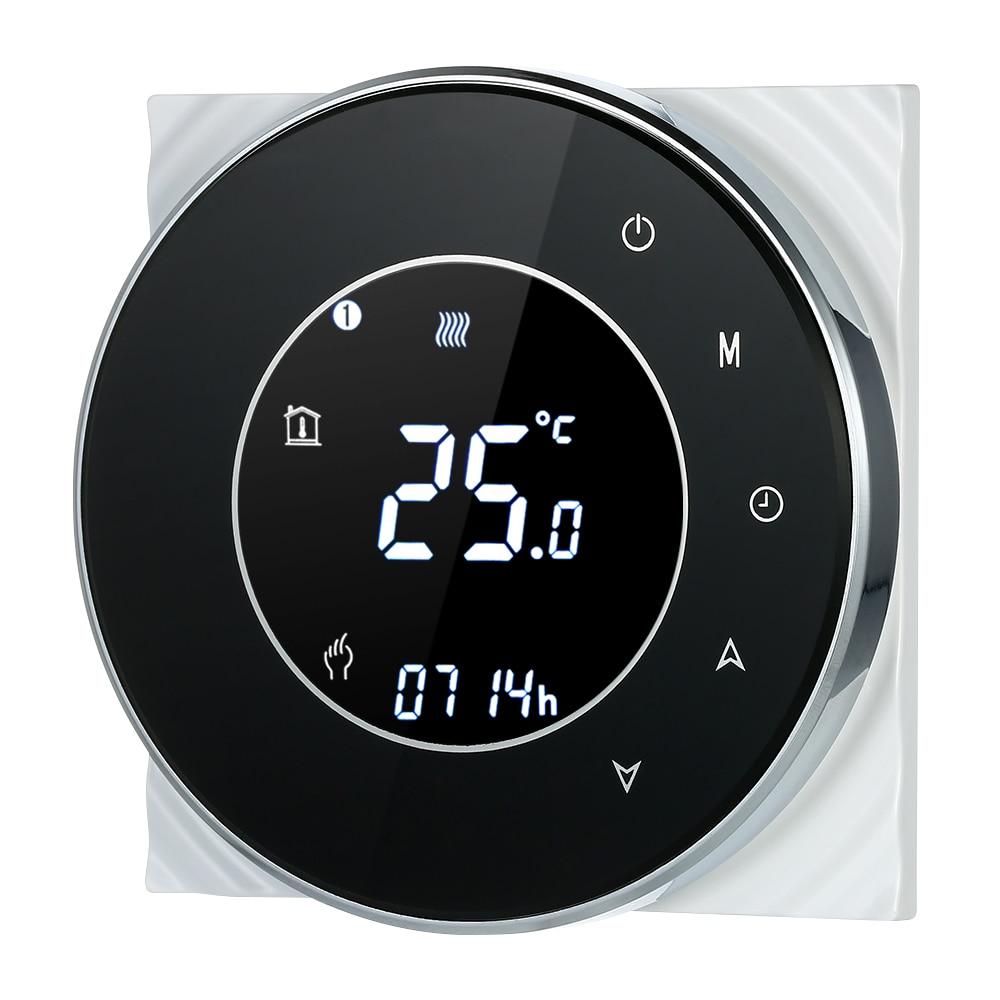 5A برمجة المياه التدفئة تحكم منظم درجة الحرارة ترموستات شاشة تعمل باللمس LCD مع وظيفة التحكم الصوتي الخلفية