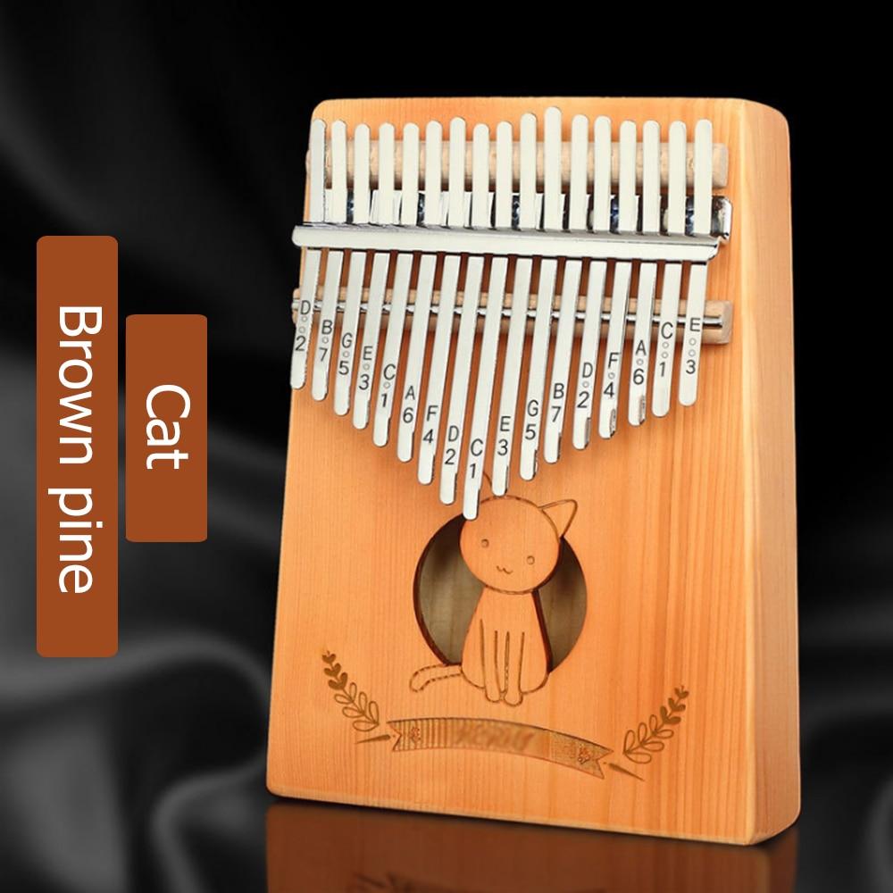17-key Kalimba thumb finger piano high quality wooden solid pine mahogany belt study book tuning hammer enlarge