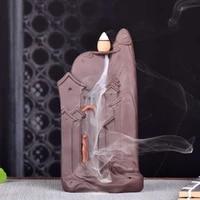 waterfall incense burner plate decorative candle essential oil incense burner mosquito coil holder incensario home decor bi50ib