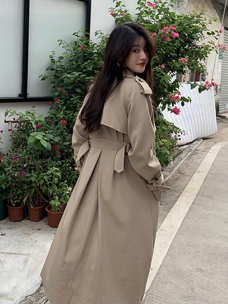 Windbreaker Coat Women's Spring and Autumn Winter Coat 2021 New Korean Version Loose Small Medium an