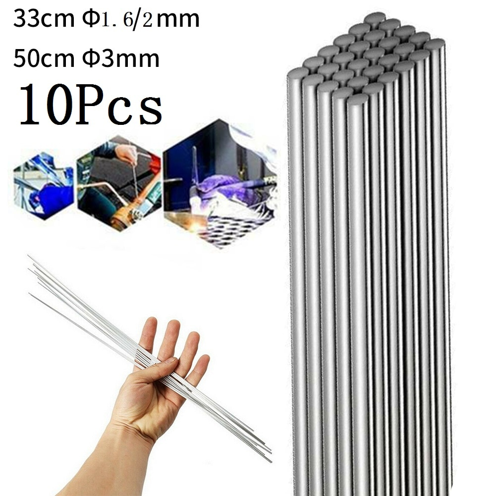 Низкотемпературные легкие плавкие алюминиевые сварочные электроды, сварные электроды, проволока с сердечником, 2 мм стержень для пайки алю...
