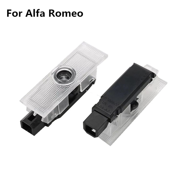 2pcs for Alfa Romeo 159 LED Car Door Welcome Light Logo Projector for Alfa Romeo 147 156 GT Giulietta Mito Stelvio Giulia Brera