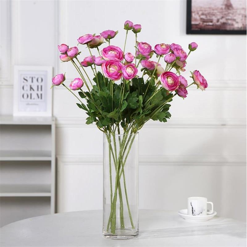 """7 Uds Tallo largo camelia (4 cabezas/pieza) 23,62 """"longitud simulación Frangipani para decoración para hogar y boda flores artificiales"""
