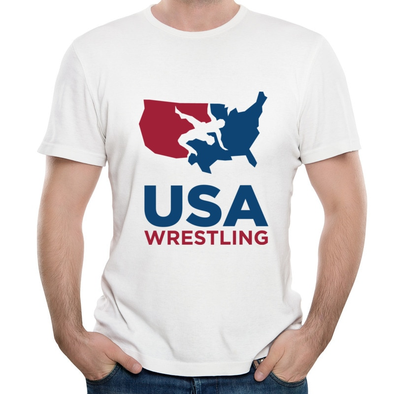 Hot Sale Usa Wrestling Hip hop Cute T-Shirt Manga Cool Tee Shirts Casual Street T Shirt Anti Wrinkle